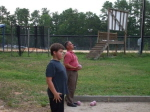 Sean Leonhard and Ken playing Bocce